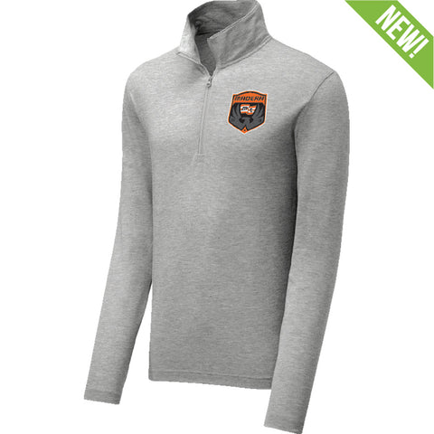 9357 Tri-Blend Wicking 1/4 Zip ADULT