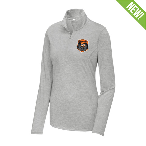 9358 Tri-Blend Wicking 1/4 Zip WOMEN'S
