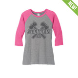 9365 Crush 3/4 Sleeve Colorblock Tee WOMEN'S