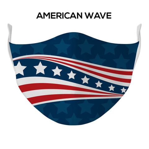 American Wave Face Mask - DYE/SUB