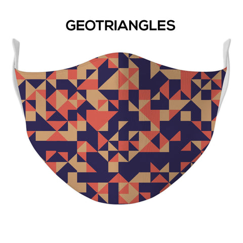 Geotriangles Face Mask - DYE/SUB