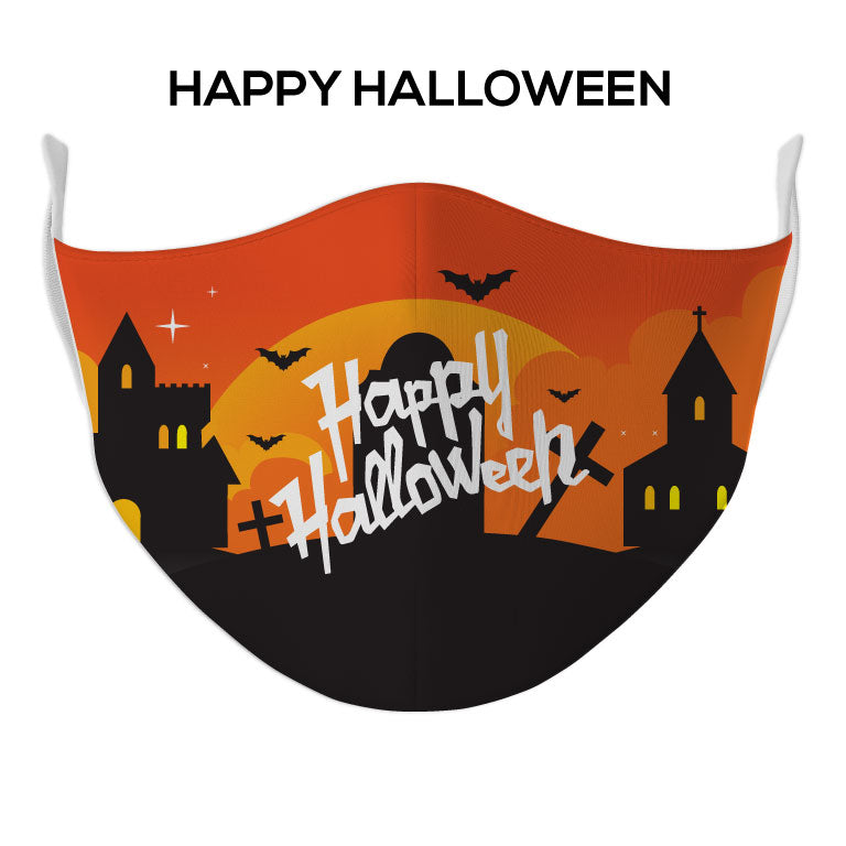 Happy Halloween Face Mask - DYE/SUB