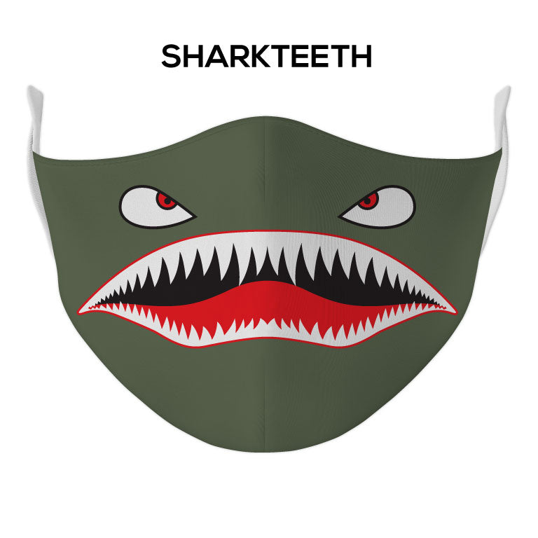 Sharkteeth Face Mask - DYE/SUB