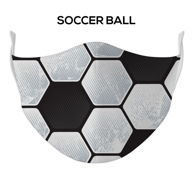 Soccer Ball Face Mask - DYE/SUB