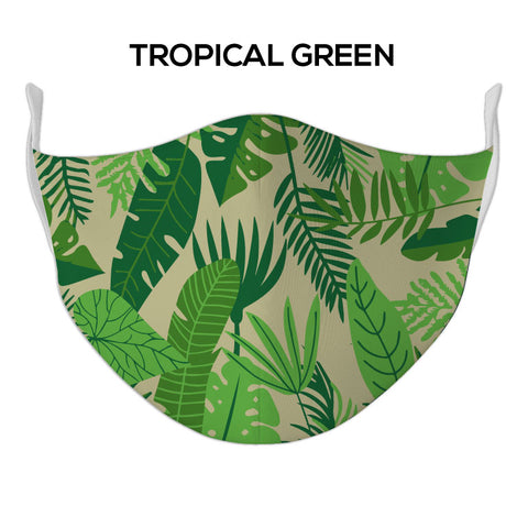 Green Tropical Face Mask - DYE/SUB