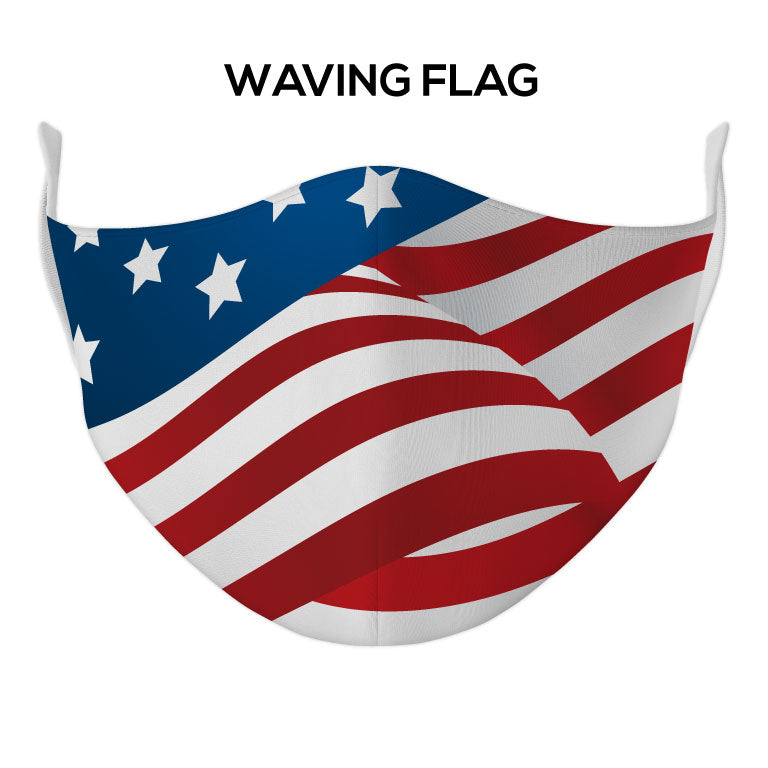Waving Flag Face Mask - DYE/SUB