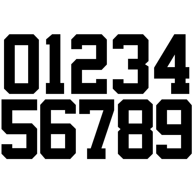 PLAYER NUMBER (BLOCK)