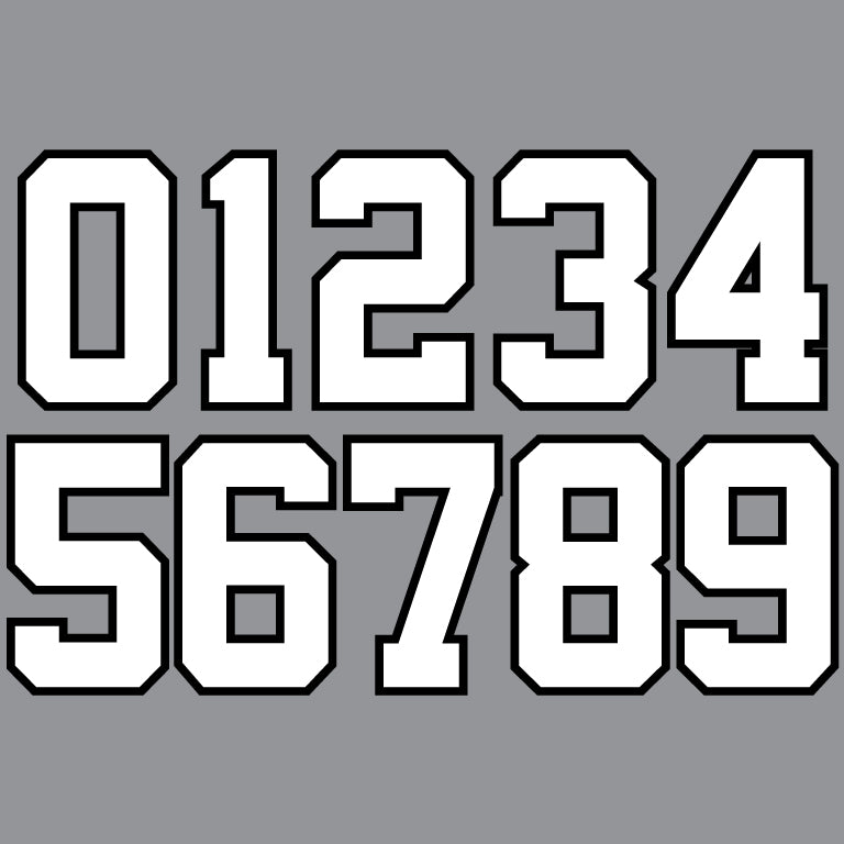 PLAYER NUMBER (2 COLOR BLOCK)