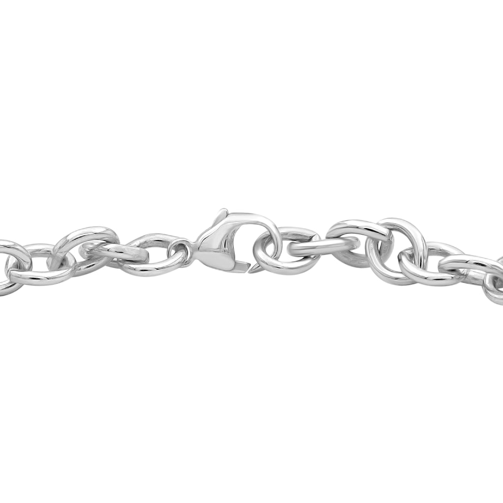 1/3 Ctw White Diamond Tri-Tone Sterling Silver Dog, Bone & Heart Bracelet