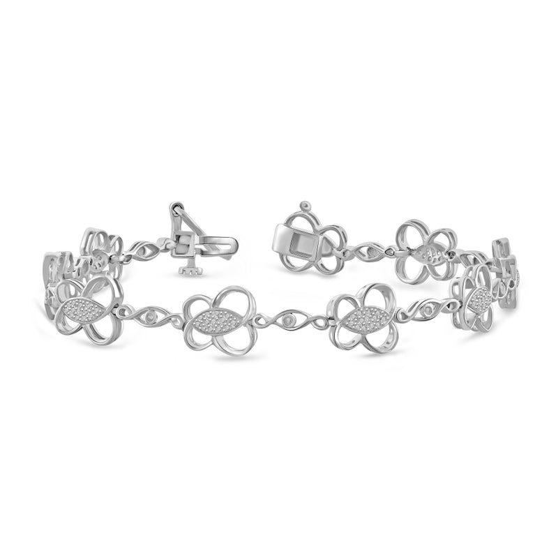 White Diamond Accent Sterling Silver Bracelet - Assorted Finish