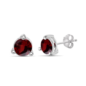 Birthstone Stud Earrings- Assorted Finish