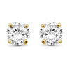 White Diamond 14K Gold Stud Earrings (I2-I3 Clarity, IJK Color) - Assorted Colors