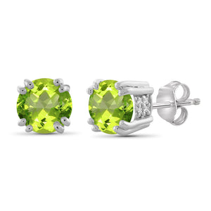 Birthstone Stud Earrings- Assorted Style & Color