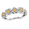 Birthstone Heart Ring Sterling Silver- Assorted Styles