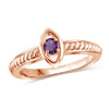 Birthstone Rope Ring Sterling Silver- Assorted Styles