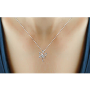 1/20 Carat T.W. White Diamond Sterling Silver Butterfly Pendant