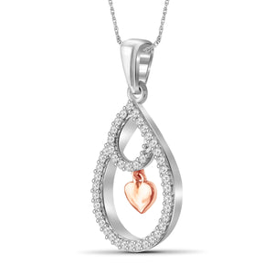 1/5 Carat T.W. White Diamond Two Tone Silver Heart Pendant