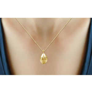 Accent Blue Diamond 14K Gold over Silver Ballerina Pendant