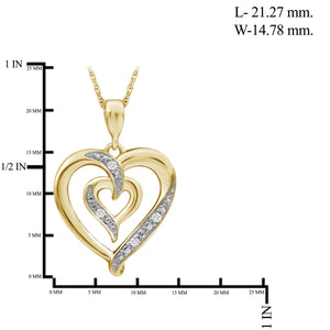 1/20 Carat T.W. White Diamond Sterling Silver Heart Pendant - Assorted Colors