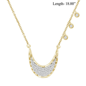 1/4 Ctw White Diamond Sterling Silver Layer Necklace - Assorted Colors