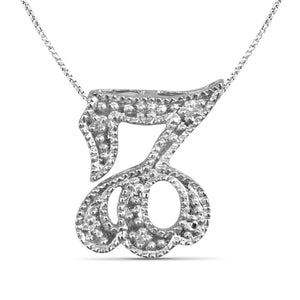 Accent Diamond Zodiac Pendant in Sterling Silver- Assorted Styles