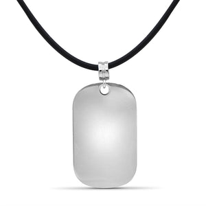 Engravable Name Dog Tag Pendant