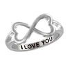 Engraved Heart Ring- Assorted Finish