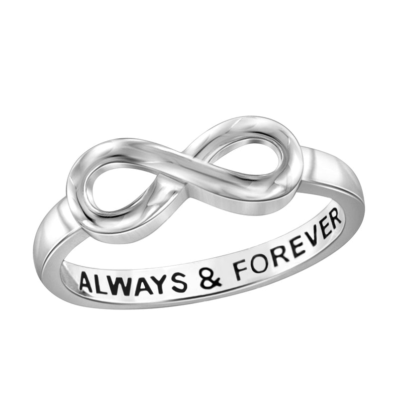 Engraved Infinity Ring- Assorted Finish