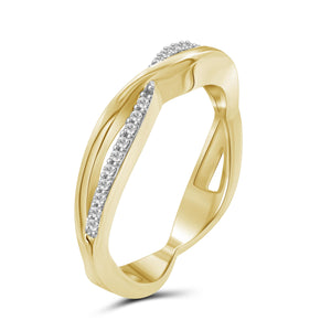 1/10 Carat T.W. White Diamond Sterling Silver Stackable Ring - Assorted Colors ( Size 7 only )
