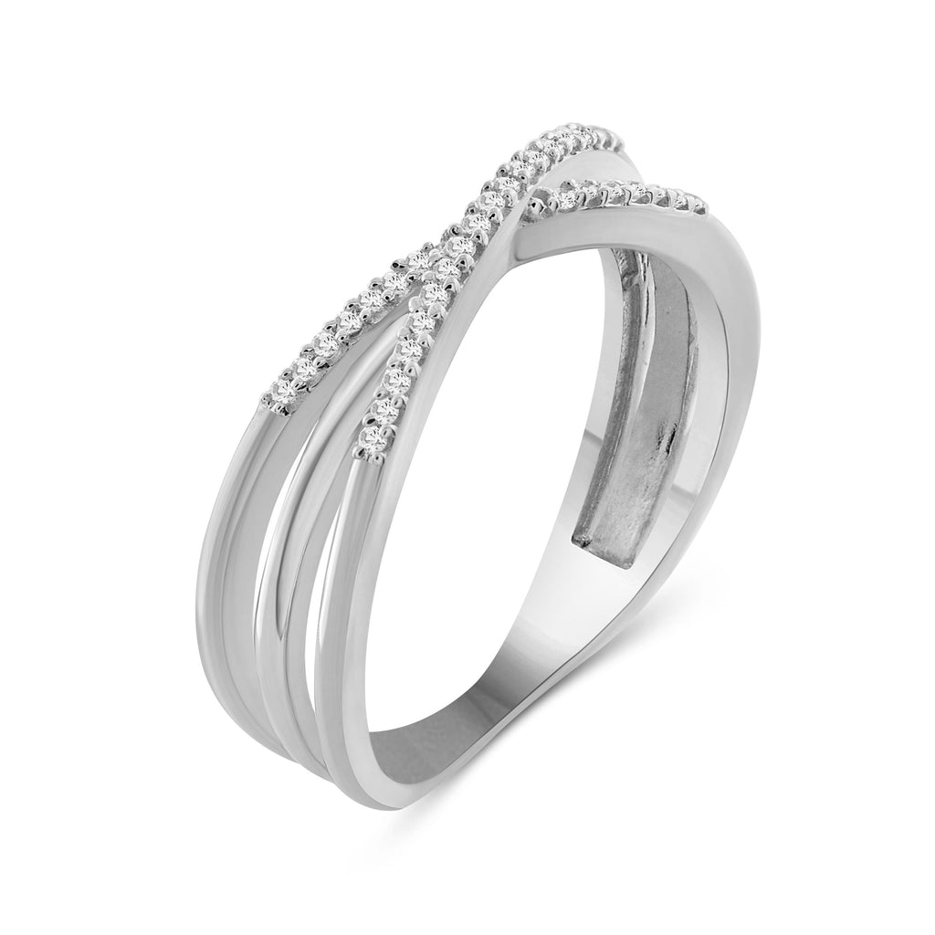 1/10 Carat T.W. White Diamond Sterling Silver Stackable Ring - Assorted Colors