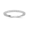 White Diamond Sterling Silver Eternity Band - Assorted Colors & Size