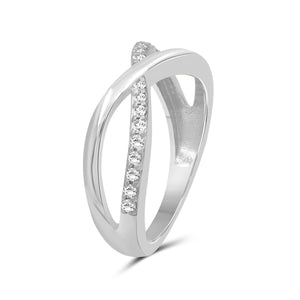 1/4 Carat T.W. White Diamond Sterling Silver Infinity Ring - Assorted Colors