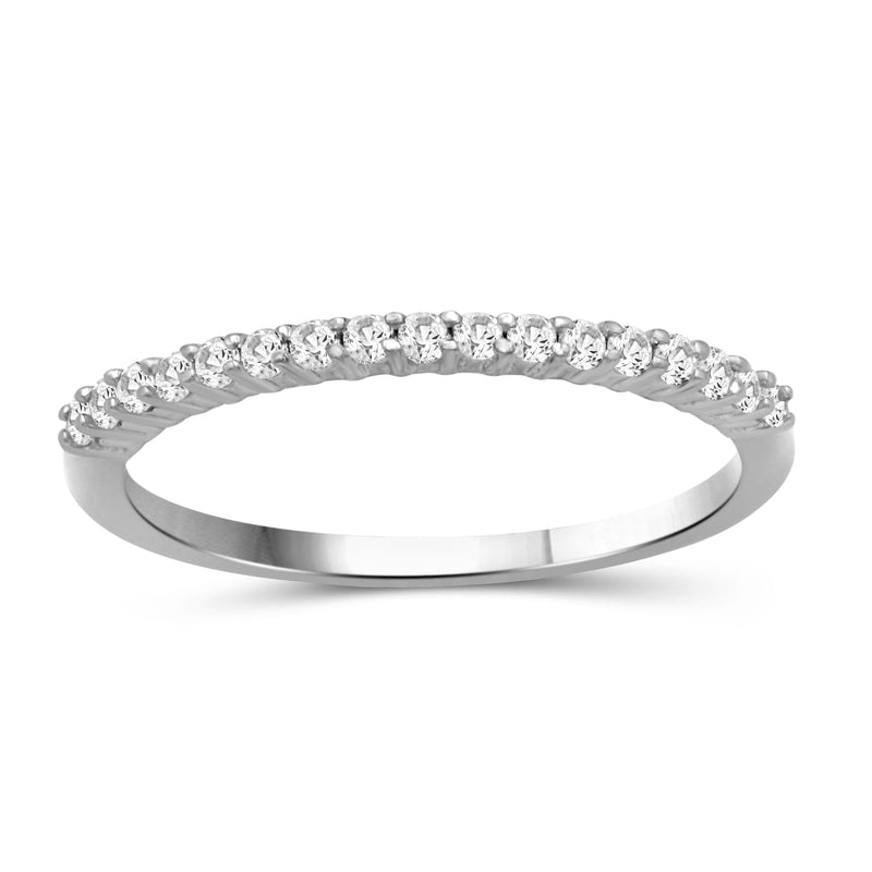 White Diamond 14K Gold Eternity Band - Assorted Colors & Size