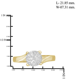 1/10 Carat T.W. White Diamond Sterling Silver Flower Ring - Assorted Colors