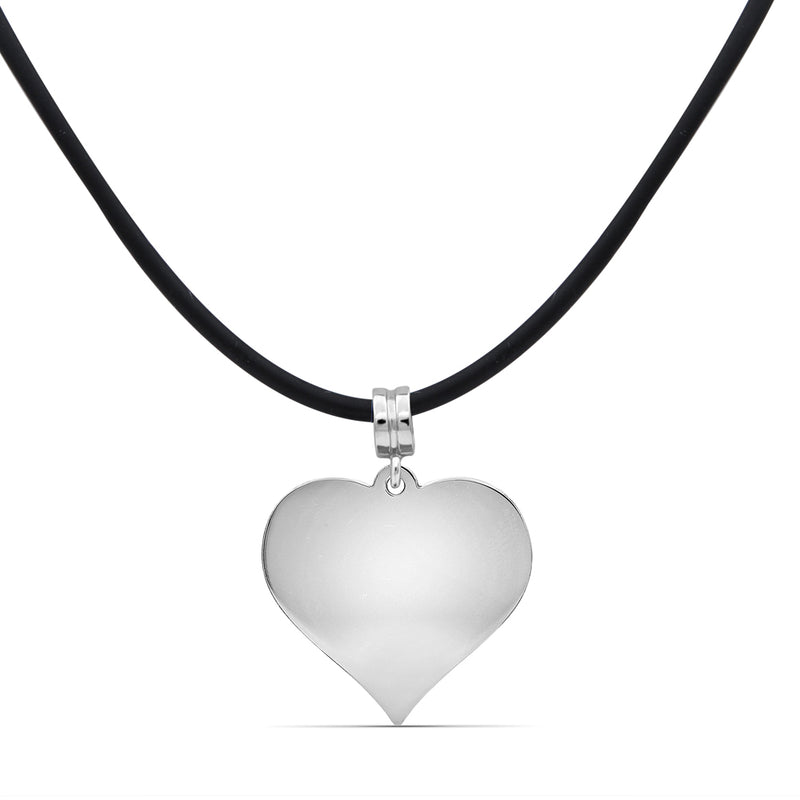 Engravable Name Heart Pendant