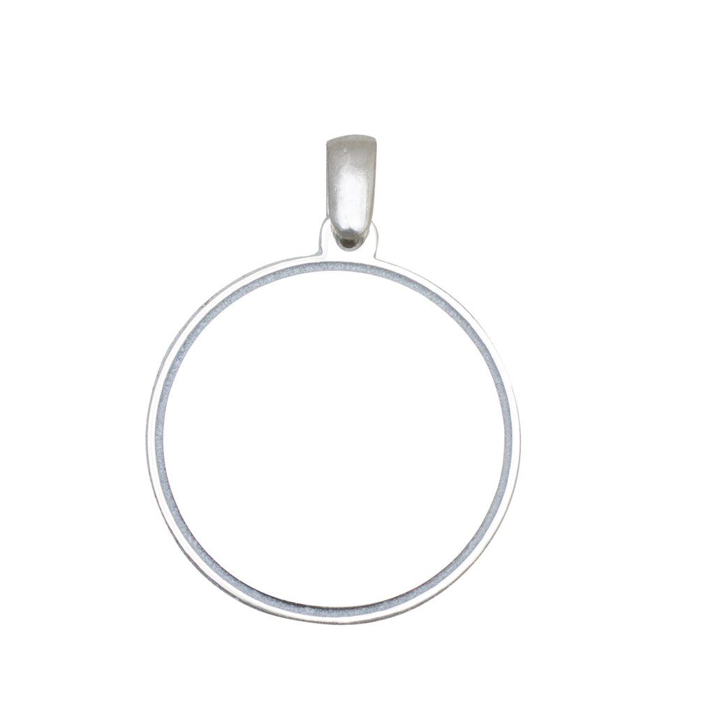 Circle Shaped Sterling Silver Pendant