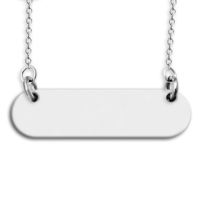 Custom Sterling Silver Chain Necklace Bar