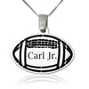 Football Name Pendant Sterling Silver