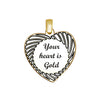 Heart with Stripes Sterling Silver Pendant
