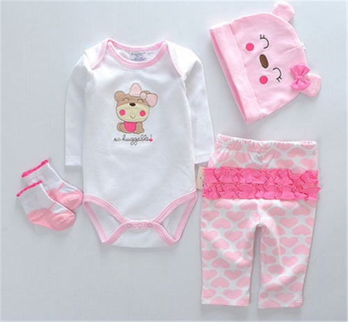 1 set clothes for doll  reborn girl boy dolls clothes pink red Romper