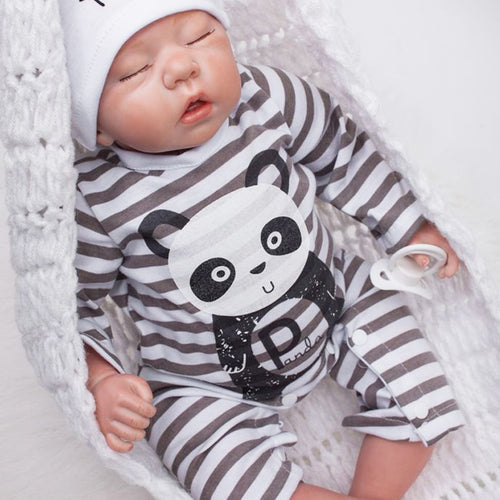 "20"" Sleeping Real Looking Silicone Boy Doll"
