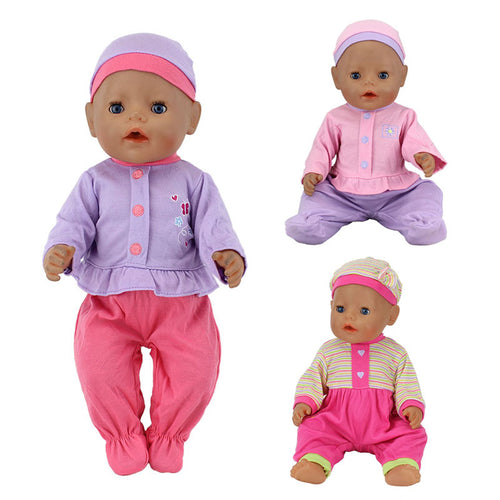 2pcs/set, The Hat+Suit Wear  Reborn Babies