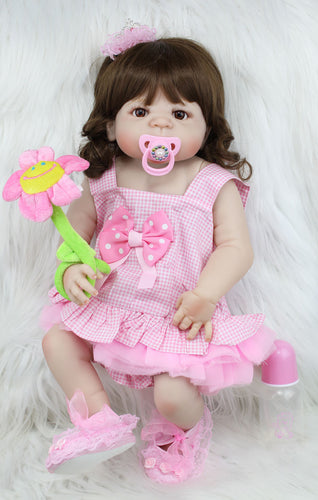 "18"" Silicone Baby Doll That Looks Real"