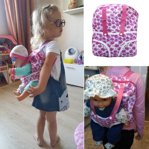 Doll Accessories Bag Backpack Fit 43cm newborn baby