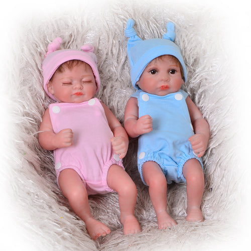 "11"" Sleeping Realistic Mini Full Silicone Twins"