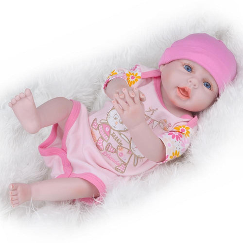 "20"" Realistic Soft Vinyl Blondie Newborn Doll"