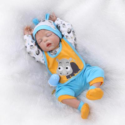 "16"" Cheap Brown-haired Silicone Baby Doll for Sale"