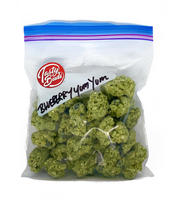 Blueberry Yum Yum Tasty Buds half pound bag
