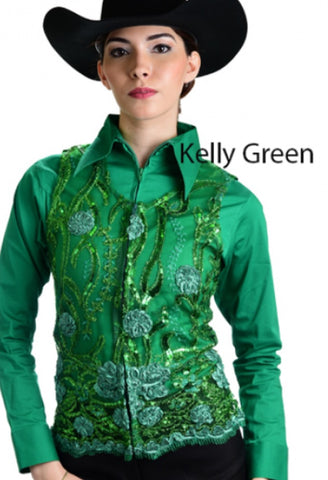 Molly Show Vest - Kelly Green