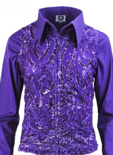 Molly Show Vest - Purple - Sparkling Cowgirl